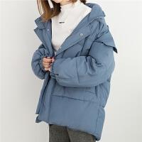 棉衣女冬季中长款棉袄宽松学院风外套