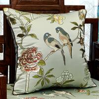 新中式现代沙发抱枕靠垫欧式美式床头真沙发汽车腰枕靠枕套