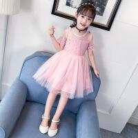 女童洋气公主连衣裙新款韩版儿童夏装裙子女大童时尚蓬蓬纱裙