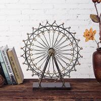 工艺品摆件 欧式家居客厅摆件复古铁艺摩天轮模型装饰结婚礼物饰品礼品