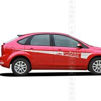 2012 2013 新款福克斯改装贴纸车身运动个性拉花整车腰线贴纸
