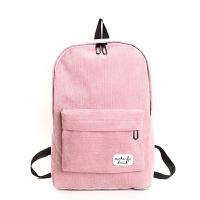 秋冬新款时尚纯色布标双肩包BW简约可爱学生书包背包女包