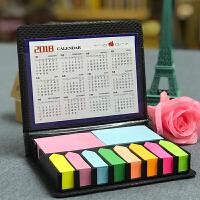 创意 N次贴礼物便利贴便签盒彩条环保纸彩色八箭头皮盒便签条
