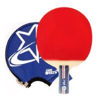 红双喜 DHS 双面长反胶快攻结合弧圈乒乓球拍单拍R1007(直拍) 带原装拍套