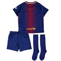 巴萨儿童球衣 10号梅西17-18主场男女儿童小孩学生内马尔童装球衣 印号(留言)
