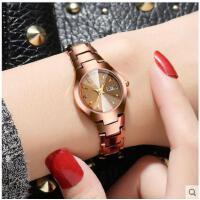 钨钢手表女表时尚款潮流石英表防水韩版简约女士手表
