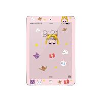 新款2017卡通iPad4air2mini3苹果5/6迷你1平板Pro9.7钢化彩膜贴膜 mini1/2/3 粉色