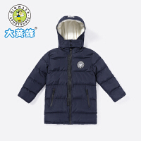 【2件4折价:167.2元】大黄蜂童装男童棉服2019新款男孩韩版校园中长款冬装儿童保暖外套