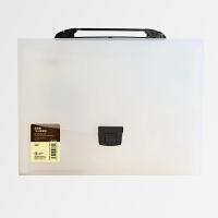 A4风琴包多层文件夹学生彩色手提票据收纳袋试卷夹文件袋 白色