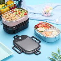 304不锈钢饭盒学生食堂餐盒带盖分格保温儿童便当盒