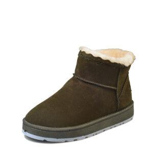 WARORWAR 2019新品YM159-E969冬季休闲平底鞋舒适花边女鞋潮流时尚潮鞋百搭潮牌雪地靴
