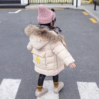 女宝宝棉衣4女童12儿童3岁冬装中长款洋气棉袄外套潮