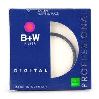 B+W PRO-UV 58mm UV58 单层镀膜UV镜 正品行货 带防伪