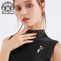 皇家莎莎胸针女仿水晶胸花领针爱心时尚配饰品情人节生日礼物
