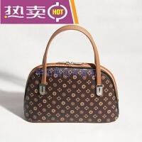 香港潮牌中年妇女妈妈买菜包手提小包包中老年人小拎包手机包零钱包女包 小号 深色小花