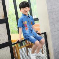 童装男童夏装新款短袖套装夏季韩版潮衣