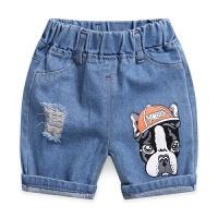 儿童牛仔短裤破洞夏季2男孩3时尚4童装5中大童6韩版7岁薄款热裤子 适合90身高 (可开裆)