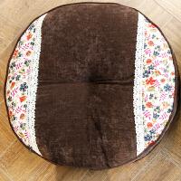 田园小碎花蕾丝边冬季加厚蒲团垫 胖子垫飘窗地板坐垫椅垫 直径45