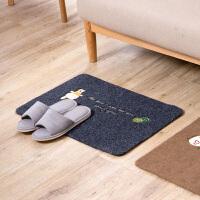 刺绣防滑地垫卧室客厅地板垫地毯进门脚垫厨房浴室卫生间吸水门垫