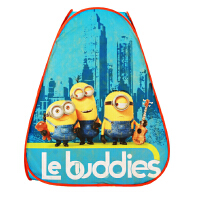 小黄人 儿童帐篷玩具游戏屋婴儿宝宝儿童城堡室内游戏帐篷 黄蓝 70*70*91cm