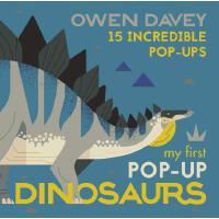 英文原版 我的恐龙立体书 Owen Davey插画 My First Pop-Up Dinosaurs: 15 Inc
