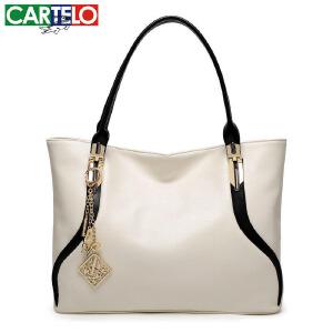 卡帝乐新款欧美时尚撞色女包 百搭女士手提包 精品女包