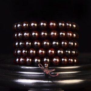 带星印度小叶紫檀佛珠手链10mm   76克