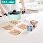 百露大号木垫子餐垫隔热垫碗垫盘垫杯子垫餐桌垫锅垫厨房用品用具
