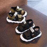 夏季新款宝宝凉鞋包头男童沙滩鞋软底防滑婴儿鞋子学步鞋