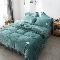 新品秒杀韩式纯色宝宝绒四件套加厚珊瑚绒保暖法莱绒1.8m床单被套冬季床品