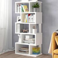 2020新款简约七格承重书架创意书柜格子柜木质小柜子储物柜简易