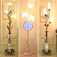 【支持礼品卡】简约现代落地灯客厅温馨卧室沙发茶几灯北欧创意时钟立式落地台灯4hg