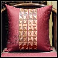 双面刺绣新款中式靠垫古典红木复古沙发抱枕含芯中国风靠枕套腰枕