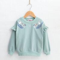 女童卫衣2018秋冬新款洋气童装中大童儿童女孩加绒加厚外套套头衫
