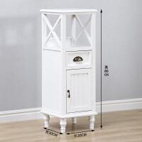 夹缝柜实木抽屉式收纳柜30cm白色小柜子卫生间储物柜厨房窄缝隙柜 白色 30*30单抽单门 1个