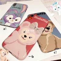 少女达菲熊芭蕾兔iPhoneXS MAX手机壳6s/7/8plus保护套XR全包软壳