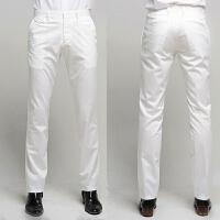 英伦白色修身西裤商务免烫长裤子时尚都市韩版休闲西装男裤