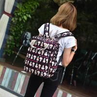 学院风大容量14寸15.6寸女双肩电脑包可爱卡通手提防水抗震背包
