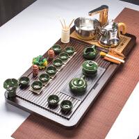 全自动茶具套装家用泡茶实木茶盘整套紫砂功夫茶具茶台茶海 36件