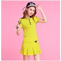 高尔夫衣服女夏短袖t恤polo衫连衣裙子韩版裙裤套装时尚golf球衣 XX