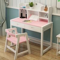 儿童学习桌写字桌椅套装家用小学生书桌男女孩组合实木升降课桌椅