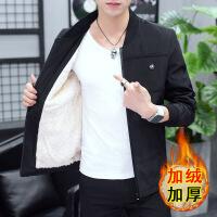 2018新款男士冬季外套男韩版潮流加绒加厚修身休闲帅