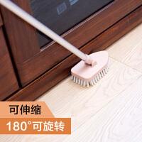 伸缩长柄刷地刷子地板刷硬毛地刷浴室卫生间洗地刷瓷砖浴缸清洁刷