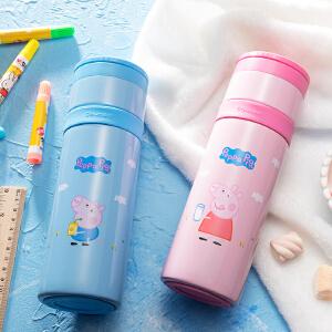 日本泰福高直身杯316不锈钢儿童保温杯小猪佩奇可爱男女学水杯子