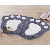 惠多大脚丫吸水地垫 卧室可爱门垫植绒浴室防滑垫子造型脚垫
