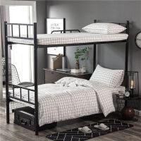 水洗棉三件套纯棉学生宿舍单人床单被套0.9m1米床上下铺全棉床笠上新