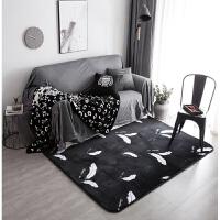 北欧地毯卧室客厅门垫满铺可爱房间床边茶几沙发办公室长方形地垫