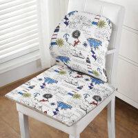 坐垫靠垫一体椅子椅垫办公室电脑学生家用座垫加厚凳子餐椅软垫子 棉麻款 帆船