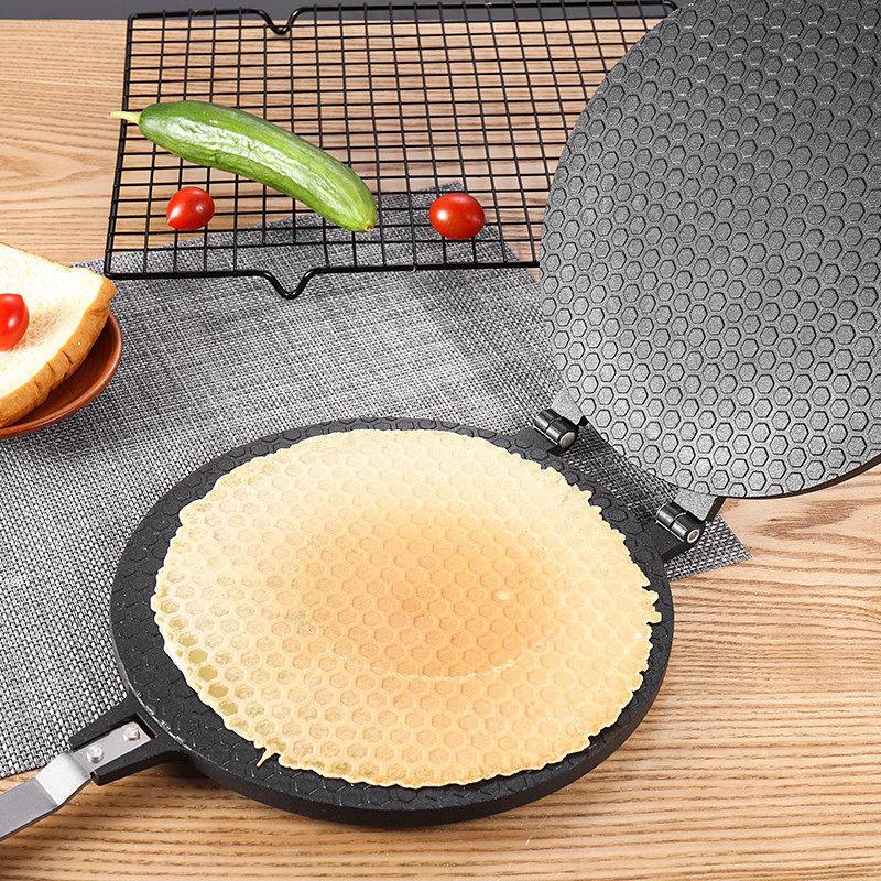 【支持礼品卡】蛋糕模具家用圆形脆皮机燃气双面烘焙工具饼干做鸡蛋卷蛋卷模具jd6 防粘性好易清洗