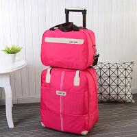 旅行包拉杆包女手提大容量搭配子母包短途拉杆行李袋旅游韩版